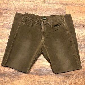 EDDIE BAUER • Flat Front Corduroy Pants • Mens